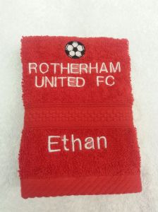 ROTHERHAM UNITED PERSONALISED FACE CLOTH